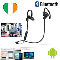 Wireless Bluetooth Headphones in Ear w Mic Noise Cancelling Earphones Sweatproof