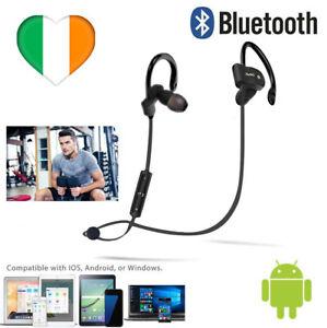 Wireless Bluetooth Headphones in Ear w Mic Noise Cancelling Earphones Sweatproof
