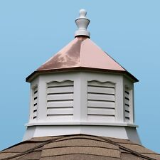 Accentua Newport Vinyl Cupola with Copper Roof, 20 in. Octagon, 27 in. High