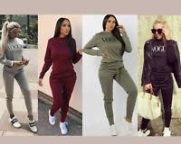 New Women's Ladies 2PCs Vogue Print Lounge wear Set Miley Travel Comfy Suit 8-14