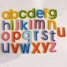 27pcs a Hip Hop Wooden Alphabet A-Z Lowercase Letters Fridge Magnets Toy
