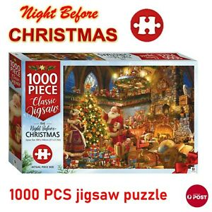 The Night Before Christmas Hinkler Jigsaw Puzzles 1000 Pieces Set Adult Kids Toy