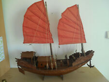 jonque chinoise asie en bois grande taille - Chinese junk Asia wooden large size