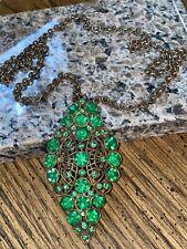 Faux Emerald Beautiful Necklace