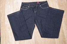 "New Look Yes Yes Stretch Dark blue Bootcut Jeans Sz UK12 EU40 Waist 32"" Leg 31"""