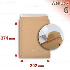 50 Enveloppes carton rigide renforcé 292x374 mm Wellbox 6