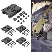 5x Tactical Waist Clip Messerscheide mit 4 Schrauben Scheidenriemenklemmensatz