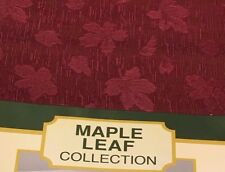 MARONE RED BURGUNDY DESIGNER MAPLE LEAF 150 CM  X 300 CM TABLECLOTH NEW SPECIAL