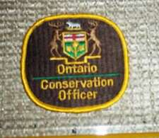 ONTARIO CONSERVATION OFFICER HAT PATCH mnr,L+F,Ministry of Natural Resources dnr
