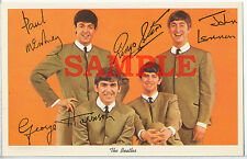 """The Beatles Reproduction Autographed Post Card 4"""" X 6"""""""