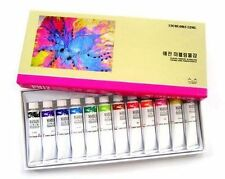 Yejeon Water Marbling Paint 12 Colors Tube Set / 12ml Marble kit CA