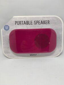 Vivitar Portable Speaker 3.5mm Audio Jack - Pink * Free Shipping *