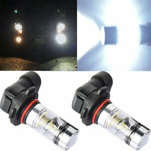 Pair 9140 9145 H10 HB3 9005 LED 200W CREE 6000K White Fog Light Driving DRL Bulb