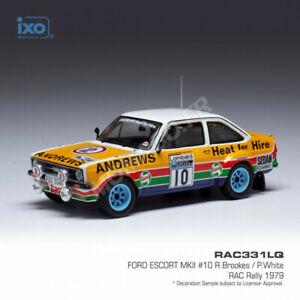 IXO IXORAC331 - FORD ESCORT MKII 10 BROOKES/WHITE RALLYE RAC 1979 1/43