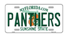 "Metal Vanity License Plate Tag Cover - Florida Panthers - Hockey Team - 12"" x 6"""