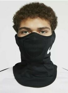 Nike Squad Snood Scarf Face Mask Black Fleece Cover Men's S/M NEW AQ8233-011