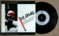 "DEF LEPPARD Bringin' On The Heartbreak 1982 7"" VINYL 45 P/S"