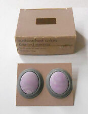 AVON SUNBLEACHED COLORS IN LAVENDER AND BLUE WITH SURGICAL STEEL POSTS  1987 NOS