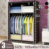 105x45x170cm Non-woven Fabric Wardrobe Home Clothes Closet Storage Organizer
