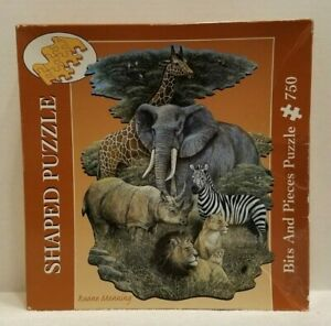 Bits and Pieces Shaped Puzzle Wild Africa Ruane Manning 750 Pieces