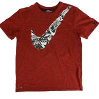 The Nike Tee Large Red Athletic Cut Dri-Fit Shirt Swoosh Men's