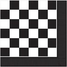 Black Checkered Lunch Napkins 16 Pack Car Racing Birthday Party