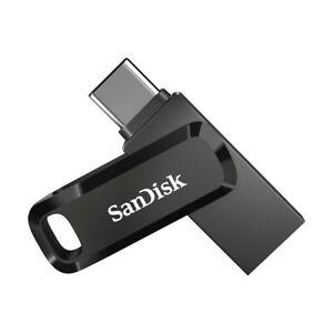 SanDisk Ultra Dual USB Flash Drive Go 256 GB schwarz USB-Stick Typ C Drehring