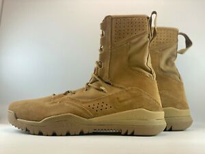 """Nike SFB Field 2 8"""" Leather Mens Tactical Boots Shoes Size 12 Coyote AQ1202-900"""