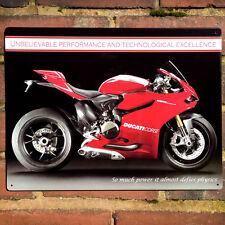 Ducati 1199 Panigale Metal Wall Sign Vintage Tin Plaque Motorbike 30x40cm 50910