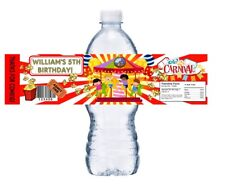 10 CARNIVAL FAIR PERSONALIZED BIRTHDAY PARTY FAVORS WATER BOTTLE LABELS WRAPPERS