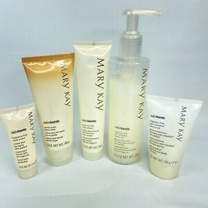 Mary Kay Satin Hands Set Vanilla Sugar RARE authentic Hand Cream Scrub Lot