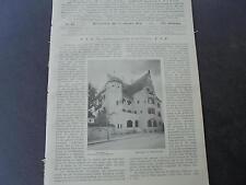 1904 Sdt. Bauzeitung 43 / Sparkasse Kaufbeuren / München Prinzregentenstraße