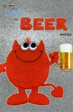 To My Dad The Beer Monster Happy Father's Day Card Wobbly Eyes Greeting Cards