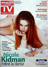 TV HEBDO 2001: NICOLE KIDMAN_TINTIN-HERGE_CAROLE BOUQUET_JESSICA ALBA