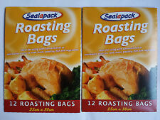 24 X ROASTING BAGS MIRCOWAVE OVEN COOKING POULTRY CHICKEN TURKEY MEAT FISH
