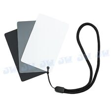 JJC 3 in 1 Digital Grey Card White Black 18% Gray Color White Balance Free Strap