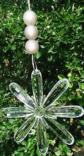 FENSTER-DEKO:1 kristallklare Blüte mit 3 Perlen: MADE in GERMANY!