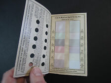 x RARE Advertising Mechanical Pamphlet Alabastine Paint -Chip Samples Trade Card