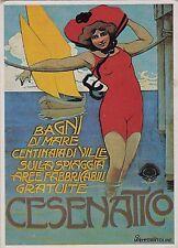 # CESENATICO: 1a STAMPA SU CESENATICO 1908 - DIS. FRANZONI - RISTAMPA ANNI '70