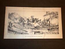 Esposizione arte di Roma del 1883 Fuoco al camino Quadro Angelo Dall'Oca Bianca
