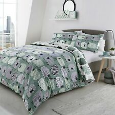 Fusion Dotty Sheep Duck Egg Easy Care Reversible Duvet Sets