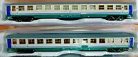 2 Carrozze FS UIC-X XMPR Tipo 1979/1982 2° classe - HO 1:87 Rivarossi HR4268
