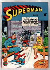 Australian SUPERMAN 116 DC Comics 1950's UK