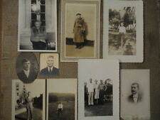 Lot of (9) Vintage Black & White Sepia Snapshot Photographs of Manly Men
