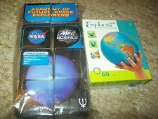 ESPHERA 60 Pc/3-D GLOBE Puzzle (NIB)& 8 NASA MAD SCIENCE Puzzle Cubes; EDUCATION