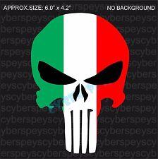 Italian Flag Punisher Style Design Drift Racing Stickers Car Vinyl Decals JDM