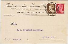 VICENZA - INDUSTRIA DEI MARMI VICENTINI 1929 X OVARO