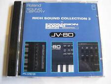 "Roland Sound card ROM ""Rich Sound collection 3"" PN-JV80-06 / Jd990 Jv880 Jv1080"