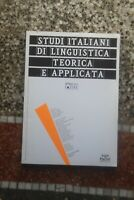 Studi italiani di linguistica teorica e applicata AAVV 2018 numero 1