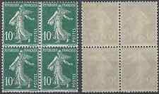 FRANCE SEMEUSE N°159 BLOC DE 4 1921/1922 NEUF ** LUXE MNH